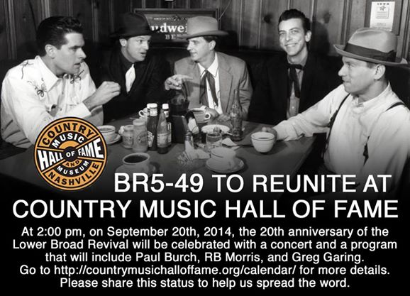 Original BR5-49 Reunites at Country Music Hall Of Fame.