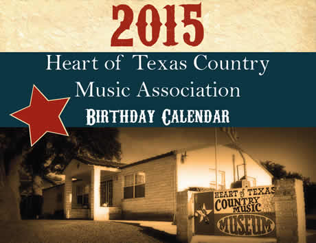 Heart of Texas 2015 Calendar.