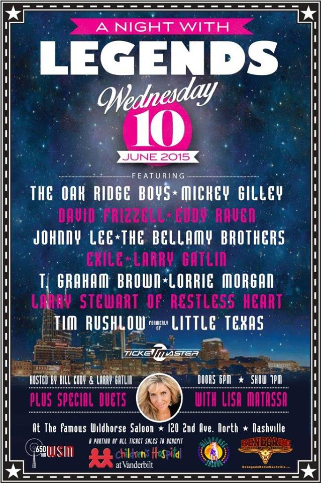 The Wildhorse Saloon Hosts A Night With Legends Benefit Show