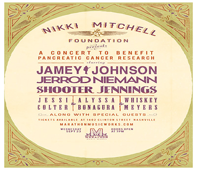 The Third Annual Nikki Mitchell Foundation Benefit Show Featuring Jamey Johnson.
