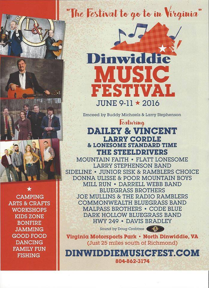 2016 Music Festivals: Dinwiddie Music Festival.