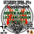 The Basement  Welcomes The Hooten Hallers.